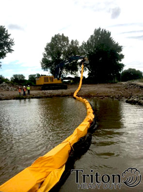 silt curtain with geotextile