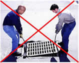 No Lifting Storm Drain Covers With the Taurus Over Grate Filter