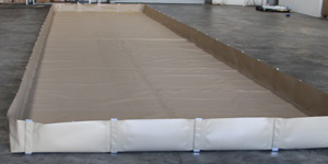 aluminum angle spill berms