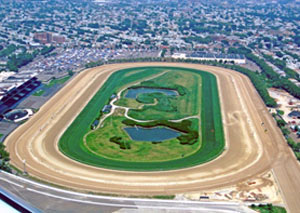 Horse Race Track Uses Dirt Track Sprayer
