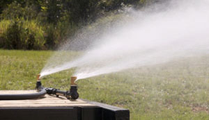 Water Trailer Spray Bar in Action