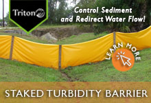 Staked Turbidity Barrier
