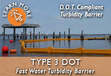 Type 3 DOT Turbidity Barrier
